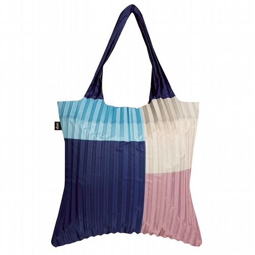 Pleated Shopper - Geometric Pink